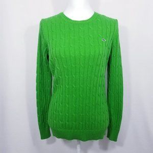 Vineyard Vines Green Cable Knit Sweater - L - EUC